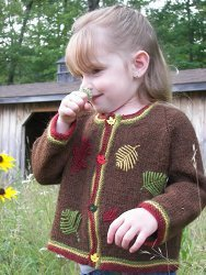 Autumn Leaves Baby Sweater