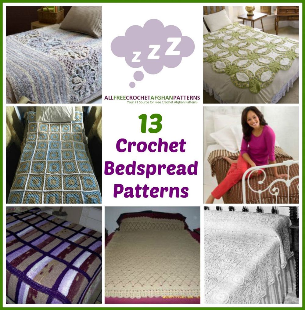 13 Crochet Bedspread Patterns ...