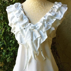 Upcycled Ruffle Shirt