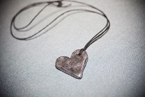 Faux Metal Heart Necklace