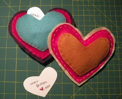 Secret Message Felt Hearts