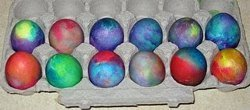 How to Tie Dye Easter Eggs