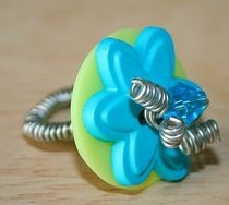 Bead and Button Ring