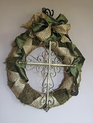Willow House Inspired Cross Wreath