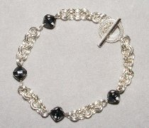 2 in 2 Chain Maille and Bead Bracelet Part 2