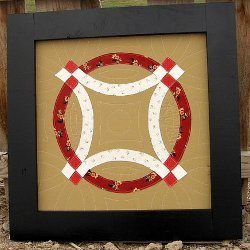 Modern Double Wedding Ring Wall Quilt Favequilts Com