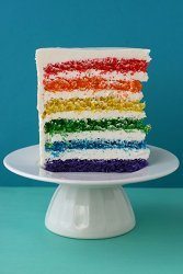Super Intense Layered Rainbow Cake