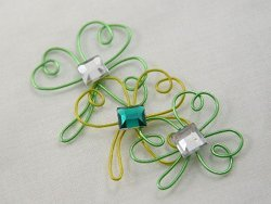 Wired Shamrock Pins