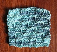 Bus Stop Basket Weave Knit Coasters