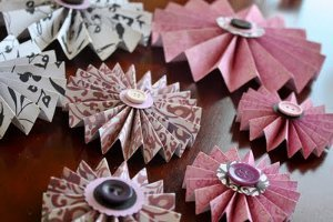 Pleated Paper Rosettes