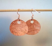 Easy Copper Circle Earrings