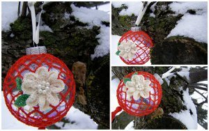 Roses in the Snow Ornament