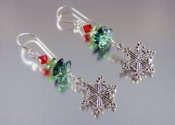 Festive Snowflake Earrings