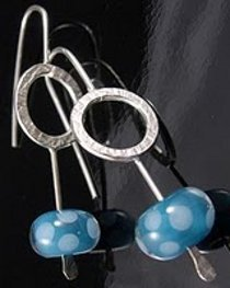 Hammered Silver Bubble Earrings