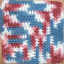 Half Double Crochet Mitred Square