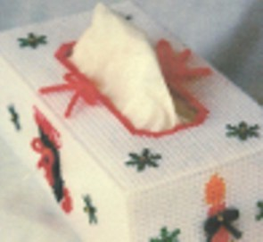 Christmas Ornaments and Snowflakes Tissue Box Cover