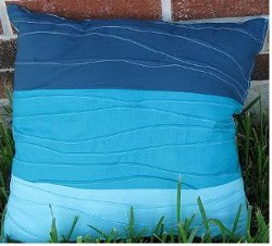 Beachy Blue Pin Tuck Pillow (page 25)