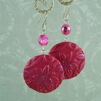 Embossed Clay Earrings