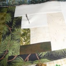Basting a Quilt with Homemade Spray Starch