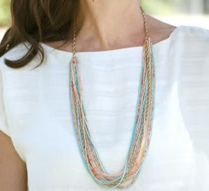 Chain and Seed Bead Summer Necklace