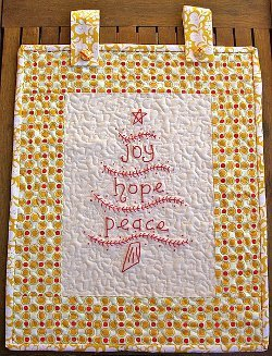 Joy Hope and Peace Wall Hanging