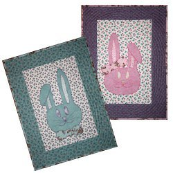 Bow Tie Bunnies Quilted Wall Hangings