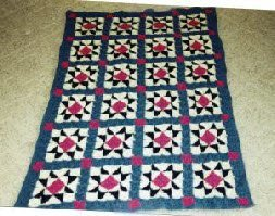 Evening Star Block Afghan