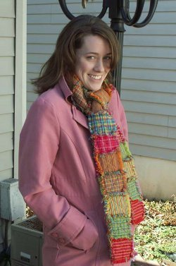 Quilted Homespun Scarf