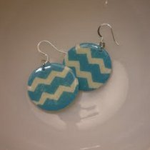 Recycled Cardboard Chevron Earrings
