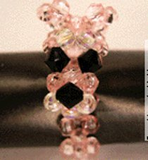 Pink Panther Beaded Ring