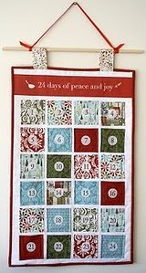 Advent Calendar Quilted Wall Hanging