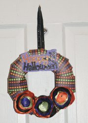 Decorative Paper Wreath for Halloween