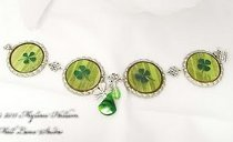 Luck of the Irish Bottle Cap Bracelet