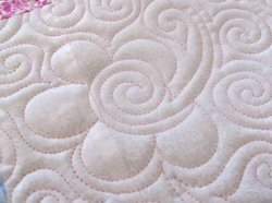 Flower Swirls Allover Quilting