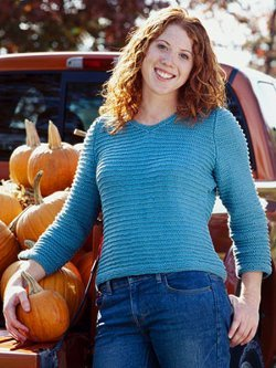 Garter Stitch Ribbed Sweater