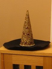 Cheesy Christmas Tree Witch Hat