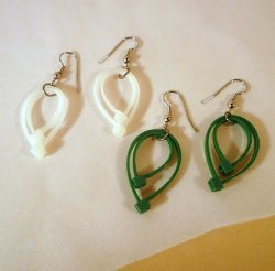 Zip-Tie Leafy Earrings