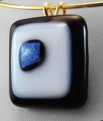 Ebony and Ivory Pendant