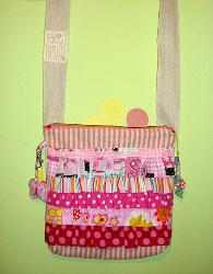 Girly Ruffled Sling Bag | AllFreeSewing.com
