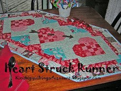 Heartstruck Quilted Table Runner