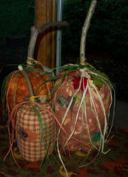 Country Fabric Pumpkins