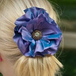 How to Make a Gathered Fabric Flower