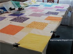 How to Baste A Quilt on A Table