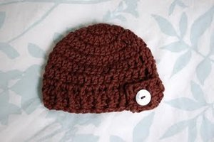 Button Flap Beanie - Preemie