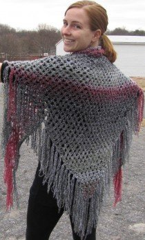 Knotted Lace Triangle Shawl
