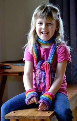 Rainbow Scarf Tutorial
