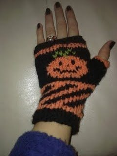 Pumpkin Fingerless Mitts