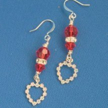 Swarovski Crystal Sweetheart Earrings