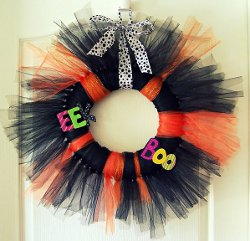 Trick or Tulle Wreath