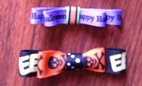 Ribbon Hair Bows for Halloween